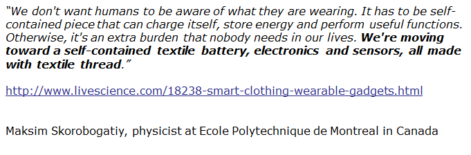 Quote about smart textiles
