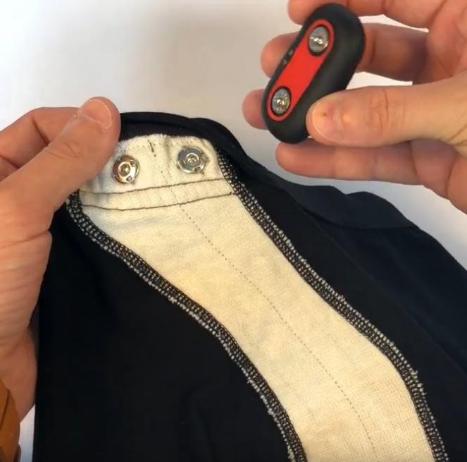 Conductive yarns in Sleepy underwear